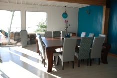 the indoor dining room