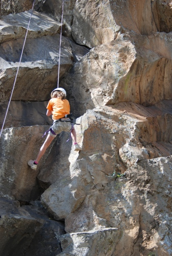 Rock climbing at Hell's gate