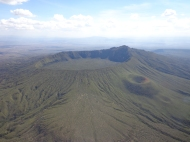 Hiking up the extinct volcano, Mt. Longonot