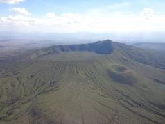 Hiking up the extinct volcano, Mt. Longonot