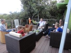 tea on the deck